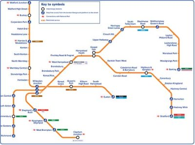 London Overground Tube Map